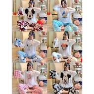 PAJAMA longsleeves sleepwear terno pajama sleepwear pajama  -Ladies  (free pouch bag )