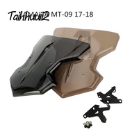 Motorbike Windshield Windscreen For Yamaha MT09 MT-09 FZ09 FZ-09 2017 2018