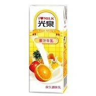 光泉保久乳  果汁牛乳200ml(6入)