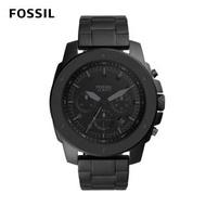 【FOSSIL】Mega Machine 粗曠不羈手錶 黑色不鏽鋼錶帶 50mm FS5717