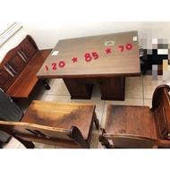土城二手家具 實木餐桌含椅子 / 實木桌  二手家具回收處理