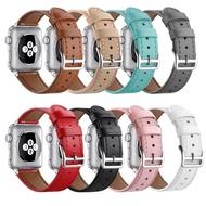 適用於蘋果手錶Apple Watch真皮錶帶 iwatch真皮錶帶鑲鑽縮圓尾