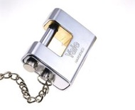 Yale V1800.80D Dimple Keyed Armour Plated Padlock Silver