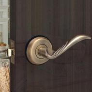 花旗 羽毛型 下座 水平把手 W3042 古銅 硫化鋁銅門 門鎖 板手鎖 水平鎖(把手鎖 補助鎖 輔助鎖 大門)