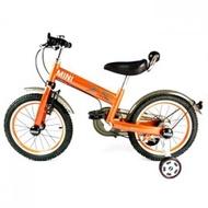 ★衛立兒生活館★英國Mini Cooper 兒童腳踏車16吋-競速橘