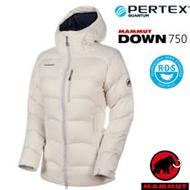 【瑞士 MAMMUT 長毛象】女新款 Xeron IN 輕量保暖防風防潑連帽羽絨外套.夾克/1013-00711-00317 深白