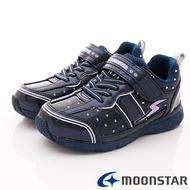 ★日本月星Moonstar機能童鞋閃電競速衝刺系列寬楦防水防滑運動鞋款9095深藍(中大童段)