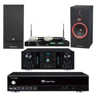 【金嗓】GoldenVoice A5+A-350+ACT-941+SL-15(4TB影音伴唱機+擴大機+無線麥克風+喇叭)