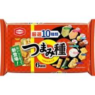 【江戶物語】龜田米果 綜合米果點心包 130g 日本進口 下酒點心 柿種 小魚乾 仙貝 海苔捲 日本零嘴