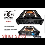 POWER AMPLIFIER RDW ND18PRO/ND18 PRO/ND 18PRO 4CH 1800 WATT ORIGINAL