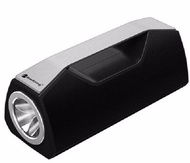 "Bluetooth V5.0 Portable Speaker Led Flash Light Torch Usb Aux €"" Black"
