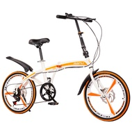 Ready Stock 20 Inch Variable Speed Double Disc Brake Folding Bicycle Adult Outdoor Cycling Alloy One Wheel Road Mountain Bike