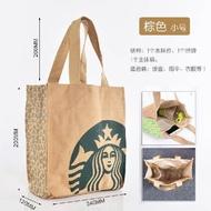 現貨 下殺 日本星巴克保溫袋帆布手提袋帶飯包保溫桶袋子學生飯盒袋便包郵