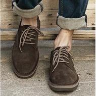 美國代購 卡特/CAT 低幫夏馬丁靴卡特英倫經典牛皮工裝戶外反絨休閑鞋 戶外休閑鞋低幫系帶男鞋