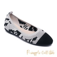 Pineapple Outfitte-FANTASIA 可愛針織圓頭娃娃鞋-蛇紋灰