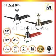 "Elmark BEE FAN 36"" Remote Ceiling Baby Fan with 18W LED Black / Chrome / Rainbow"
