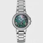 【BENTLEY】賓利 Lady Bentley系列 月亮女神真鑽手錶 (貝面/銀色鋼帶 BL1689-102010)