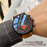 MONTBLANC 萬寶龍手錶 明星傳承系列 日曆 男士腕錶 石英全功能手錶 三眼可用