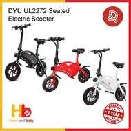 DYU UL2272 Seated Electric Scooter FOC back basket