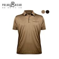 【POLAR BEAR】男降溫涼感咖啡冰紗本布領有袋POLO衫-18T05
