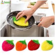 全新 韓國草莓抹布洗碗巾亞克力滌綸絲洗碗布清潔布 【Beeu】