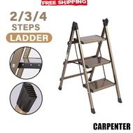 Foldable Ladder 2/3 Step Aluminum Stool Ladder Multi-purpose Foldable Step
