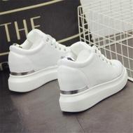 小白鞋 新款小白鞋厚底內增高鬆糕女鞋8cm休閒運動鞋百搭白色女鞋