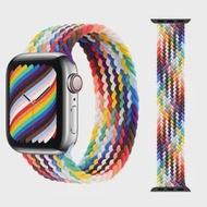 ผ้าถัก Solo Loop สำหรับ Apple Watch Band 6 Se 5 44มม.40มม.ยืดหยุ่นเข็มขัดสร้อยข้อมือ to IWatch Series 4321 38Mm 42Mm