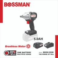BOSSMAN - 20V Cordless Impact Wrench (Brushless Motor) (BBIW-220M) (With or Without Battery / Charger)