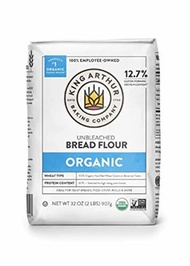 ▶$1 Shop Coupon◀  King Arthur, 100% Organic Unbleached Bread Flour, Non-GMO Project Verified, No Pre