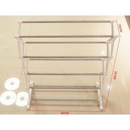 #AF017 #簡易五層DIY不銹鋼塑料鞋架、鞋櫃(1280元)