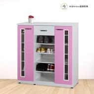 【米朵Miduo】3.5尺兩門一抽壓克力開放塑鋼鞋櫃 防水塑鋼家具