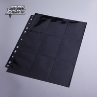 Black DOUBLE Sided 18 Pockets Page Trading Card Protectors For Board Games Pokemon YuGiOh TCG