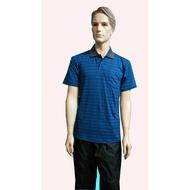 SKIP精品--咖啡紗條紋POLO衫(藍)
