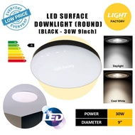 {3 YEARS WARRANTY}Waterproof LED Ceiling Light 20W 30W Black/White 7'' 9'' Round LED Surface Downlight IP56 IP65