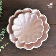 日本美濃燒 小兵製陶所 Rinka (Rokuro 六魯製造商) 深花缽 桃練 粉紅色 餐盤 現貨