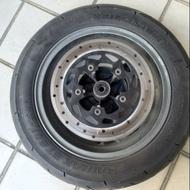 (送碟盤)機車前輪 普利司通輪胎 BT601 100/90-12(二手)