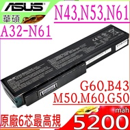 ASUS 電池(原廠6芯最高規)-華碩 M50,M50V,M50Q,M50SR,M60V,M60W,X55,X55Sa,X55SR,A32-M50,A33-M50,B23E,B43J,B43F,B43E,PRO4G,PRO5L,PRO62,PRO64,PRO5M,PRO62J,PRO62V,PRO64D,PRO64DA,PRO64J,X5,X5M,X5D,X5E,X5F,X5MJ,X5MF,X5MN,X5MS,X5MT,X5MV,X64,X64JQ,X64JV,X64JX,X64VG,X55A,X55C