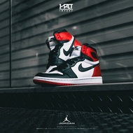 "IMPACT Air Jordan 1 ""Satin Black Toe"" 絲綢 黑頭 黑紅 女鞋 CD0461-016"
