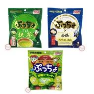 日本 UHA 味覺 味覺糖 噗啾軟糖 50公克 宇治抹茶/日本酒味/沖繩檸檬 日本進口 零食 糖果