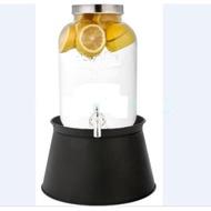 Love Decoration~預購~5L不鏽鋼水龍頭飲料桶+白色底座/冷水壺/酵素瓶/果醋罐/檸檬水瓶/白色野餐露營