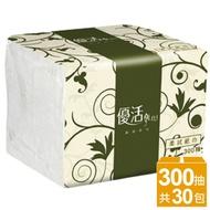 優活LiVi單抽柔拭紙巾-300抽/1箱30包裸包裝