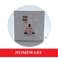 Hager 13A Single Socket with 2 x USB Safety Mark