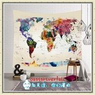 世界地圖 聚酯織物 牆掛裝飾掛毯