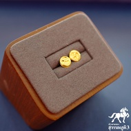 ต่างหูทองแท้ นน. 0.6 กรัม 96.5% ลายกังหัน ขายได้ จำนำได้ มีใบรับประกัน ต่างหูทอง ต่างหูทองคำแท้