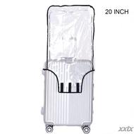 ล้าง PVC ผ้าคลุมกระเป๋าเดินทาง Rolling ผ้าคลุมปกป้องกระเป๋าสัมภาระสำหรับกระเป๋าเดินทาง20นิ้ว,22นิ้ว,24นิ้ว,26นิ้ว,28นิ้ว,30นิ้ว