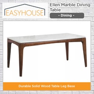 Ellen Marble Dining Table   Dining   Durable Solid Wood Table Leg Base