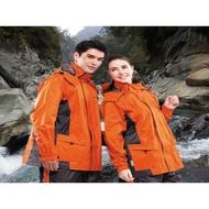 達新雨衣 達新牌 休閒 彩型仕  風衣 雨衣 A07 (橘/灰)  兩件式登山騎士服  T-CORE RL 台灣品牌