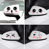 Rearview Mirror Smiling Eyes Sticker Cute Personality Creative Car Stickers Cartoon Decorative Stickers Reversing Mirror Stickers