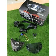 Zhipat Lc135 V1 Demak EVO Z Head Lamp Full Set With Cover Pnp Plug n play 100%Original LAMPU DEPAN LED ZHIPAT